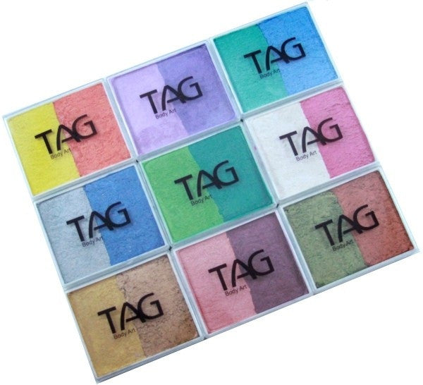 TAG 9 x 2 Colour Cakes Pearl Palette