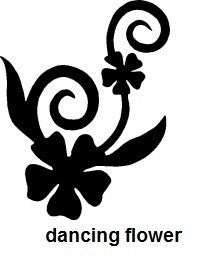 Dancing Flower TAG glitter tattoo stencil