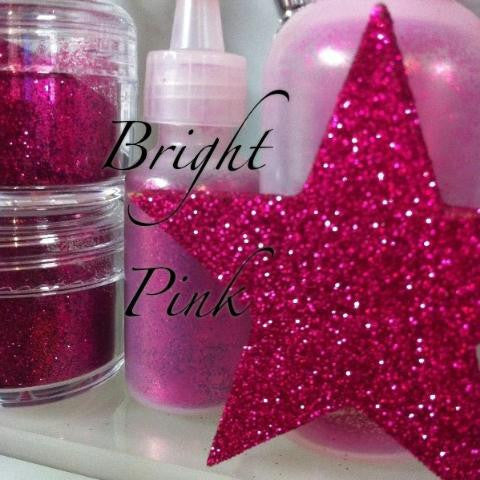Bright Pink Cosmetic Glitter