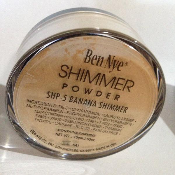 Ben Nye BANANA Shimmer Powder 15gm/ .53oz
