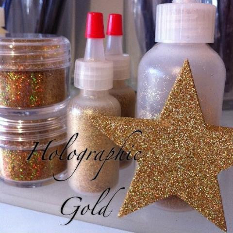 Holographic Gold Cosmetic Glitter