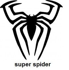 Super spider TAG glitter tattoo stencil