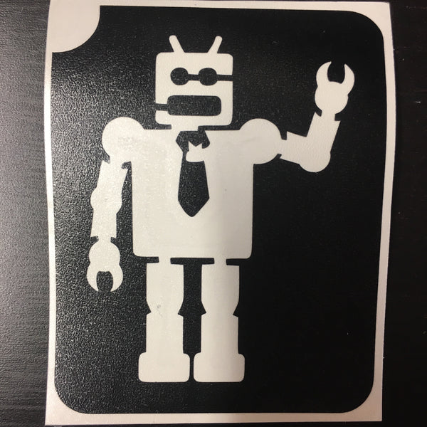 ROBOT WITH TIE Ybody glitter tattoo stencil