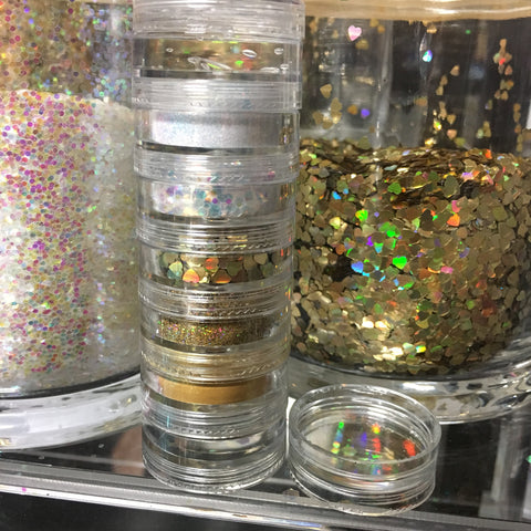 """HEART OF GOLD"" glitter stack with GOLD shimmer"