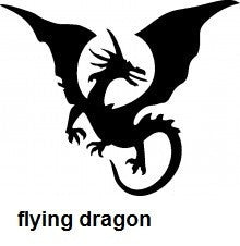 Flying Dragon TAG glitter tattoo stencil
