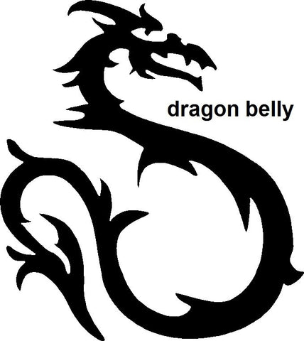 Dragon Belly TAG glitter tattoo stencil