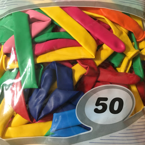 Decrotex 360Q assorted balloons (50 count)