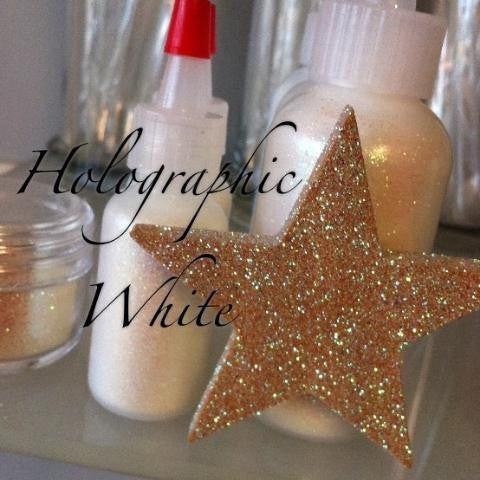 Holographic White Cosmetic Glitter