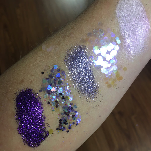 """CHACHKI"" glitter stack with ""interference violet"" shimmer"