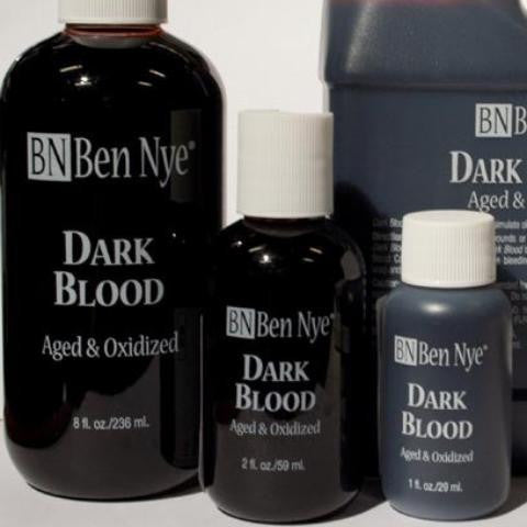 Ben Nye Dark Blood aged and oxidised