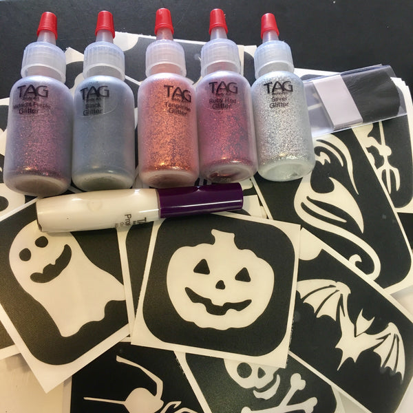 TAG glitter tattoo HALLOWEEN kit