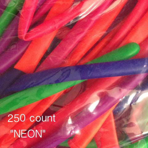 260Q Neon assorted balloon (250 count) Qualatex