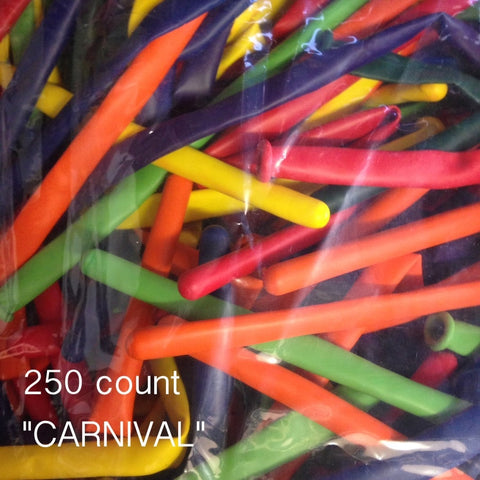 260Q Carnival assorted balloons (250 count) Qualatex