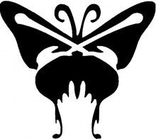 Creepy Butterfly TAG glitter tattoo stencil