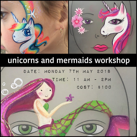 UNICORN AND MERMAID Workshop 7th MAY, 2018 11am-2pm
