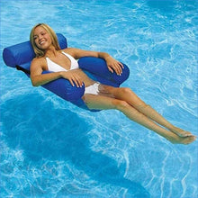 Load image into Gallery viewer, BreezyWave™ Inflatable Recliner Beach Swim Bed