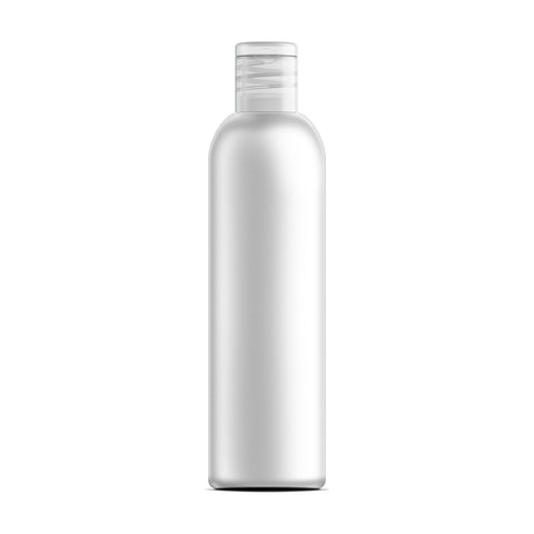 Case of 315 White PET Plastic Cosmo Bottle and Natural Flip Disc Cap with Induction Seal 8 oz