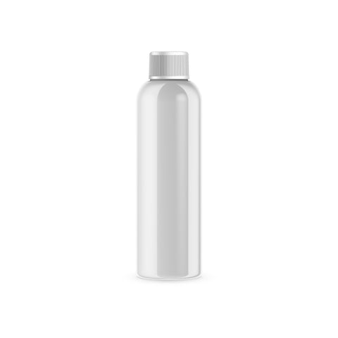 Case of 315 White PET Plastic Cosmo Bottle and White Threaded Cap with Induction Seal 8 oz