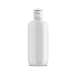 Case of 240 White PET Plastic Oval Bottle and Natural Flip Disc Cap with Induction Seal 12 oz