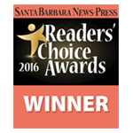 Santa Barbara News Press 2016 Readers' Choice Awards Winner