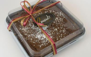 holiday packaged dark chocolate brownie
