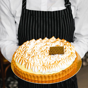 lemon meringue tart, feed 6 to 8