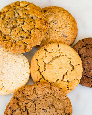 assortment of soft fresh baked cookies