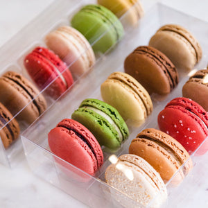 macaron packaging box of 10 and 6