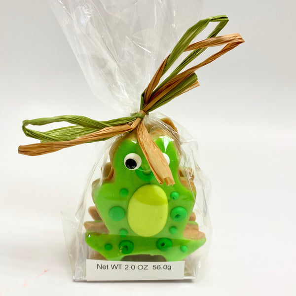 Frog iced cookies