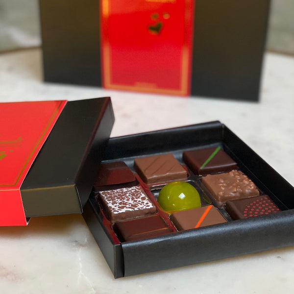 9 pieces chocolate box