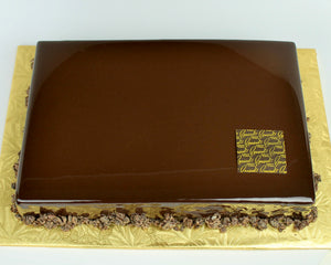 large sheet decadent chocolate cake