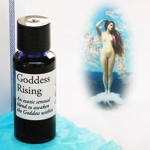 Goddess Rising Perfume Oil APGR10 Premium Scent Full Strength Fragrance Oil  10ml Cobalt Blue Bottle celtic-copper-jewelry.myshopify.com