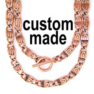Men's Custom Copper Necklace Celtic Scroll Chain NC66M 5mm Solid Copper Chain Necklace Custom Length celtic-copper-jewelry.myshopify.com