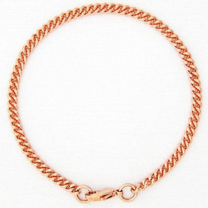 Solid Copper Fine Cuban Curb Bracelet Chain BC71, Lightweight Comfortable Women's And Men's Copper Bracelet Chain celtic-copper-jewelry.myshopify.com