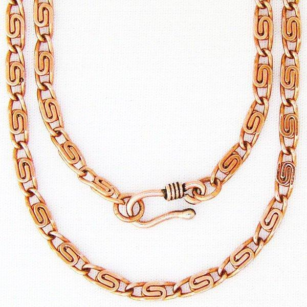 "Fine 24-inch Celtic Copper Scroll Chain Necklace NC61, 4mm Celtic Scroll Chain Copper Necklaces 24"" celtic-copper-jewelry.myshopify.com"