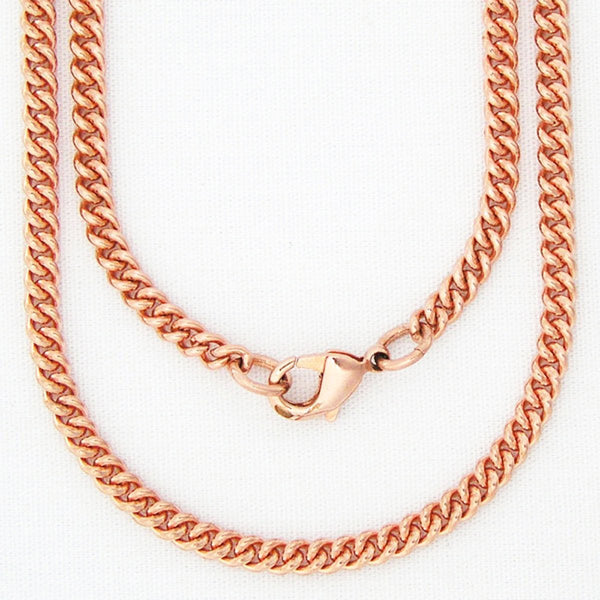 "Fine 18-inch Copper Cuban Curb Link Chain Necklace NC71, Perfect Lightweight Solid Copper 18"" Chain For Pendants celtic-copper-jewelry.myshopify.com"