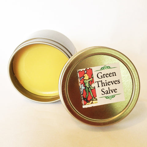 Green Thieves Beeswax Salve AGTBB 1-2oz Organic Jojoba Oil Olive Oil Body Balm with Essential Oil celtic-copper-jewelry.myshopify.com