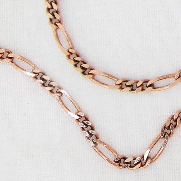 Fine Figaro Copper Chain by the Foot FCC41 Solid Copper Unfinished Bulk Chain Jewelry Making Supplies 4 mm Copper Figaro Bulk Chain celtic-copper-jewelry.myshopify.com