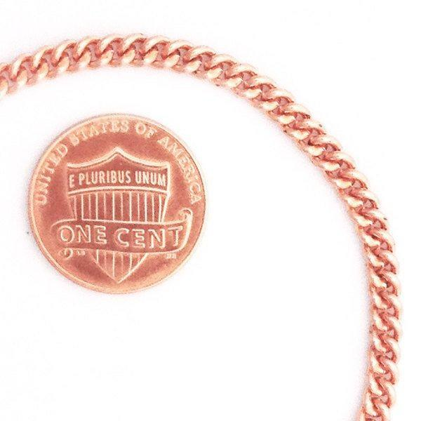 Custom Size Solid Copper Fine Cuban Curb Chain Necklace NC71, Perfect Pendant Chain Necklace With Choice Of Length And Clasp celtic-copper-jewelry.myshopify.com