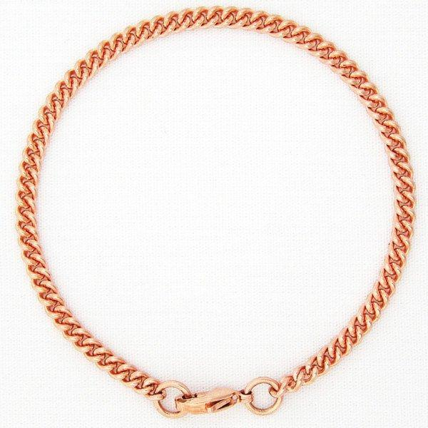 Custom Size Solid Copper Fine Cuban Curb Bracelet Chain BC71, Lightweight Comfortable Women's And Men's Copper Bracelet Chain celtic-copper-jewelry.myshopify.com