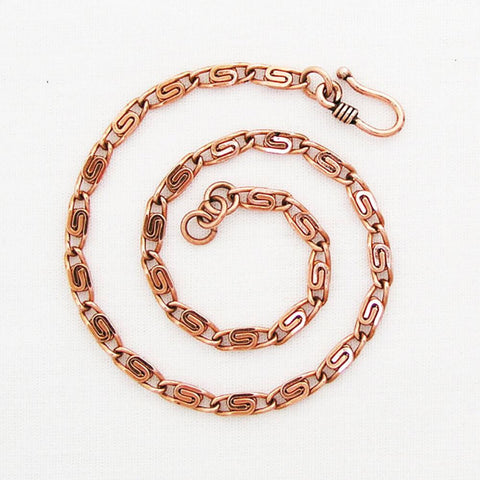 Copper Custom Sized Fine Scroll Chain Anklet ACC61M | Solid Copper Anklet Chain celtic-copper-jewelry.myshopify.com