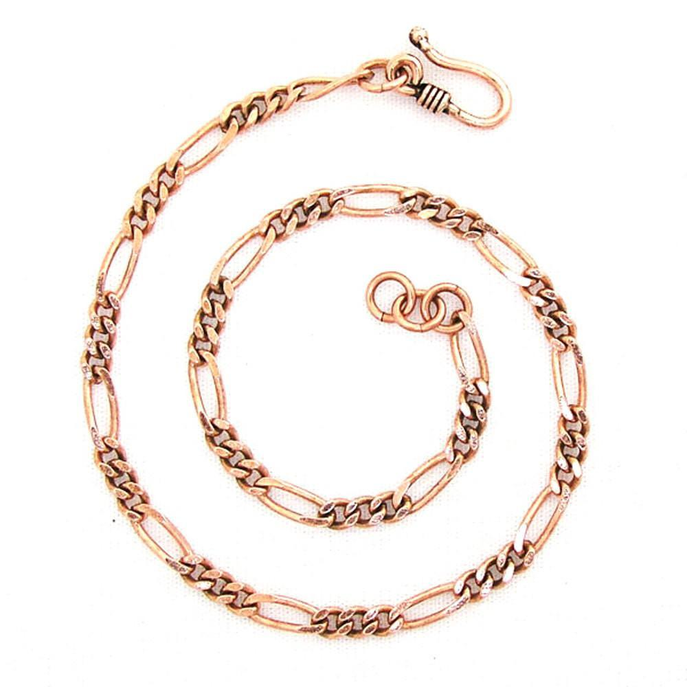 Copper Fine Figaro Custom and Plus Size Adjustable Chain Anklet ACC41M | Solid Copper Anklet Chain celtic-copper-jewelry.myshopify.com