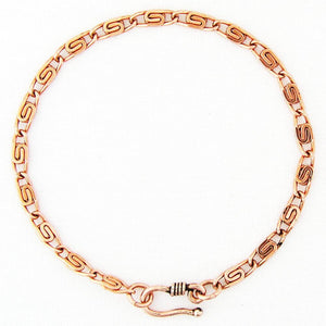 Custom Size Solid Copper Fine Celtic Scroll Link Bracelet Chain BC61, Women's Copper Bracelet Chains celtic-copper-jewelry.myshopify.com