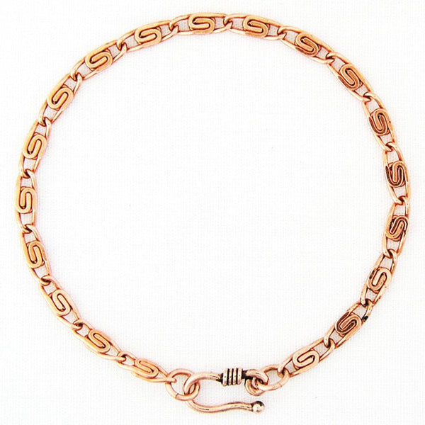 Solid Copper Fine Celtic Scroll Link Bracelet Chain BC61, Women's Small, Medium and Large Copper Bracelet Chains celtic-copper-jewelry.myshopify.com
