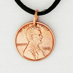 Lucky Charm Copper Penny Pendant Necklace PC99 United States Penny Necklace on Copper Chain celtic-copper-jewelry.myshopify.com