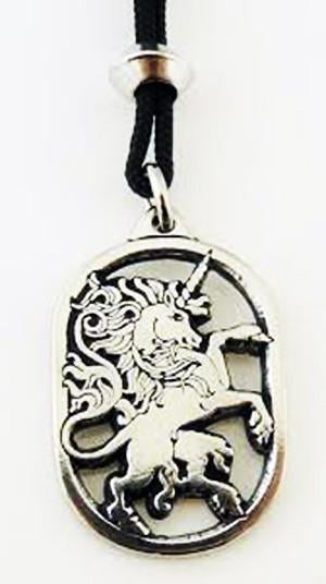 Magical Unicorn Pewter Pendant Necklace celtic-copper-jewelry.myshopify.com