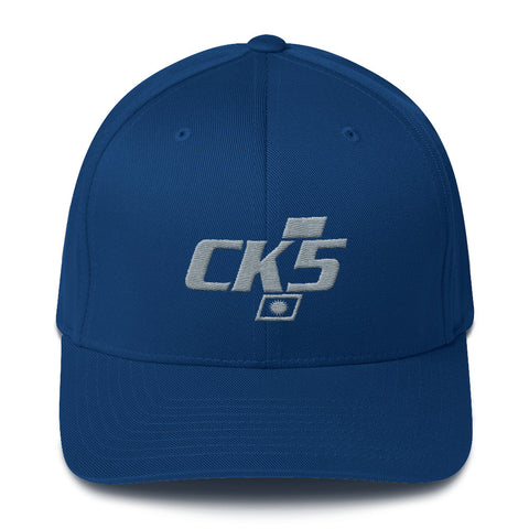 CK5 Embroidered Badge Structured Twill Cap