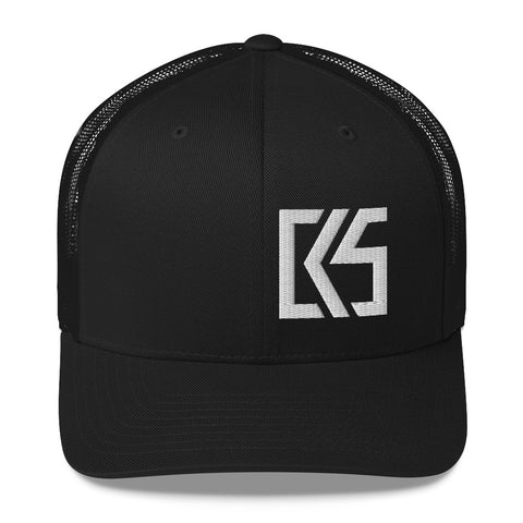 CK5 3D Puff Embroidered Edge Trucker Cap (mid-profile)