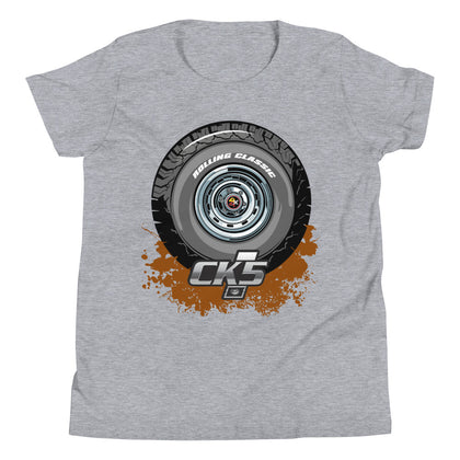 Rolling Classic Rally Wheel Youth T-Shirt