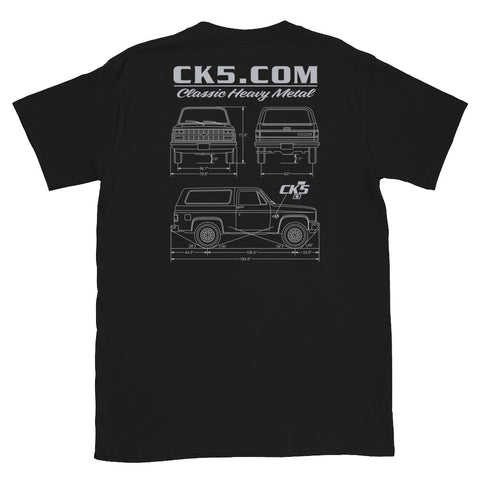 CK5 Blueprint T-Shirt (two sided design)
